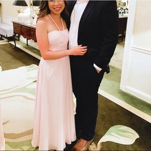 Azazie Felicity Blushing Pink Bridesmaid Dress 0